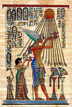 akhenaton culto a Aton sol