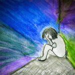 Criança triste depressão
