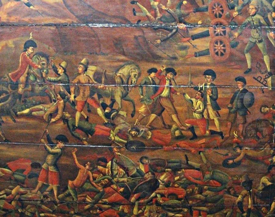 Detalhe da pintura de teto da Igreja de Nossa Senhora da Conceição dos Militares