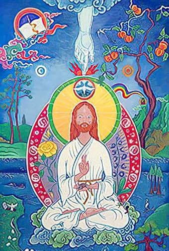 Jesus em desenho estilo budista