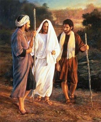 Jesus no caminho de Emaú