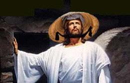 Jesus com chapéu vietnamita