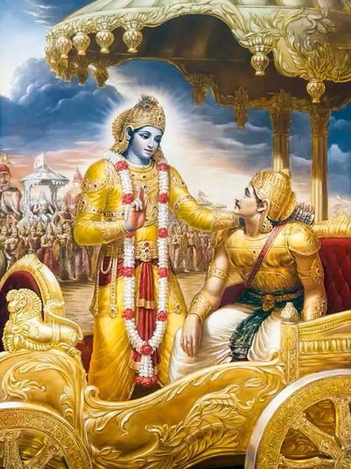 Krishna aconselha Arjuna no Bhagavad-Gita