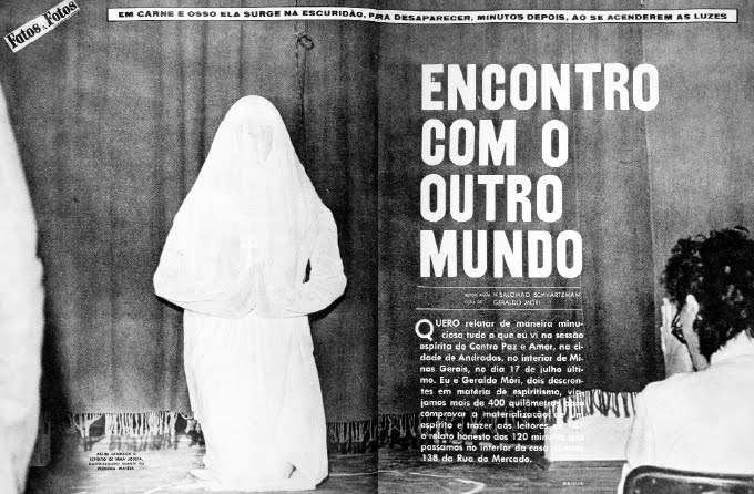 Revista Fatos e Fotos com o fenômeno da materialização de Espíritos