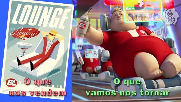 Obeso mórbido do filme Wall-E